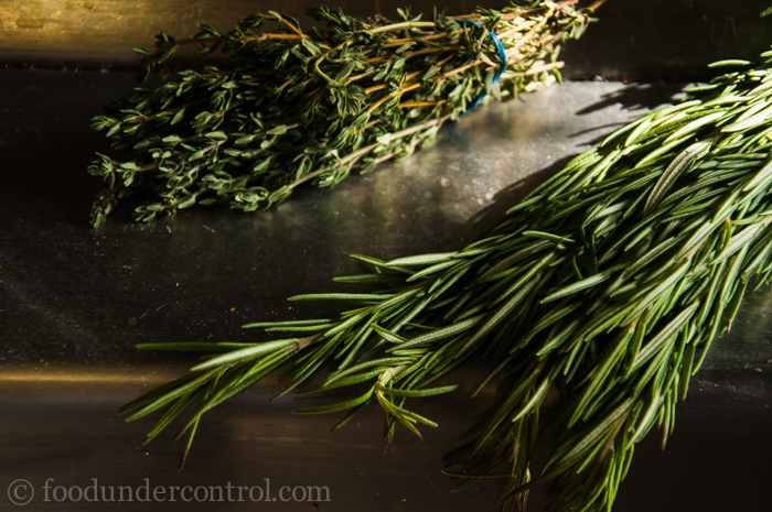 Thyme and Rosemary in the Sunlight